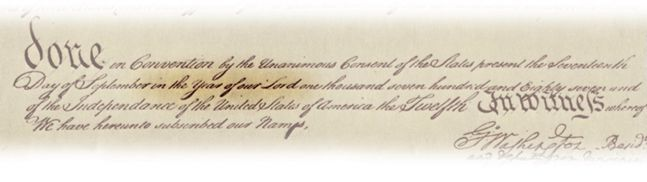 A copy of the dating of the Constitution