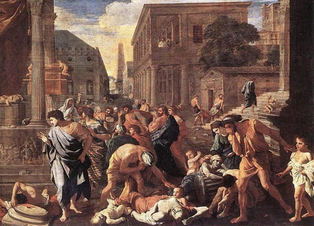 Painting of the Plague of Athens (430 BC)