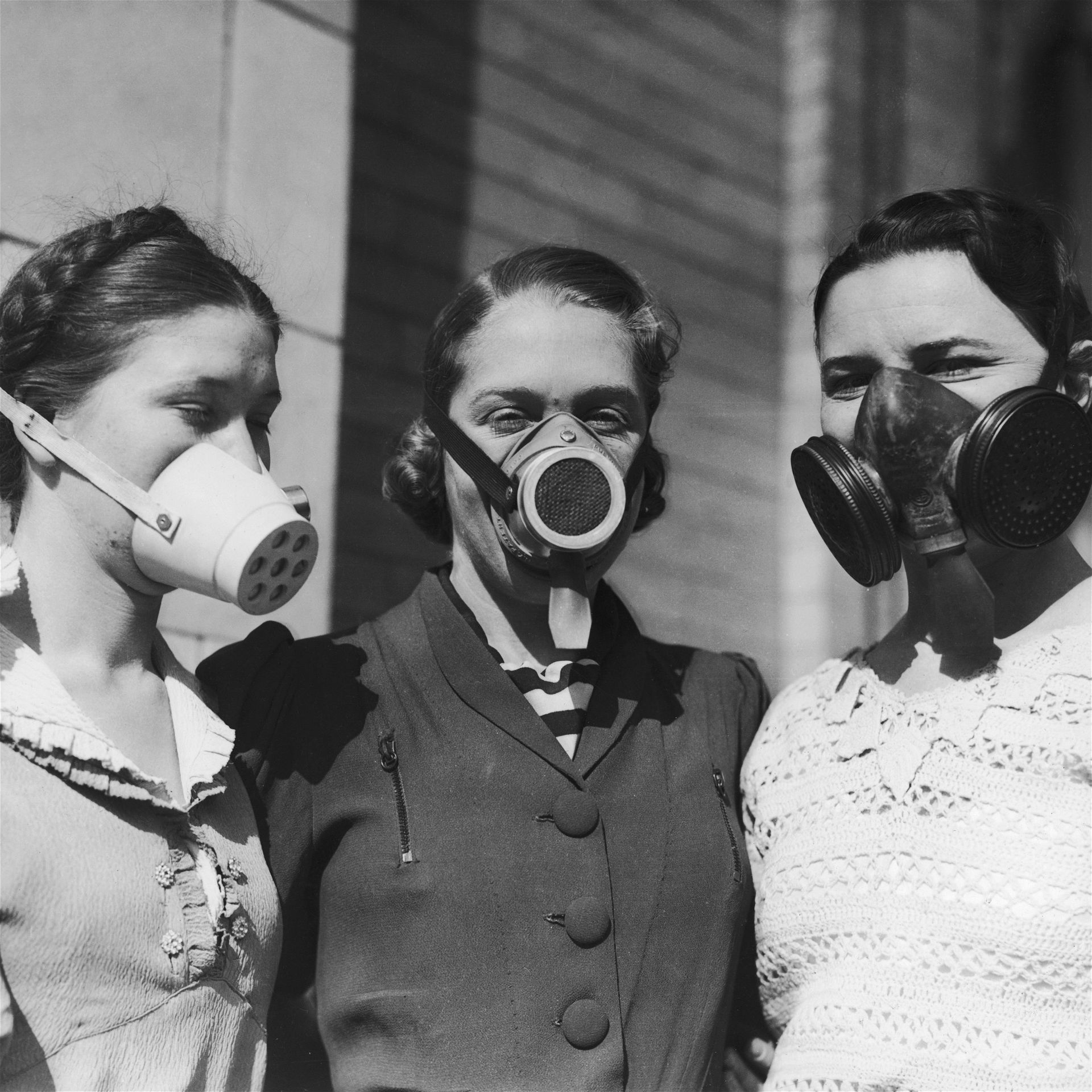 Dust Masks Worn During The Dust Bowl