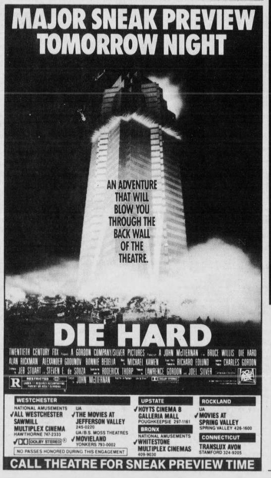 Image result for original die hard poster