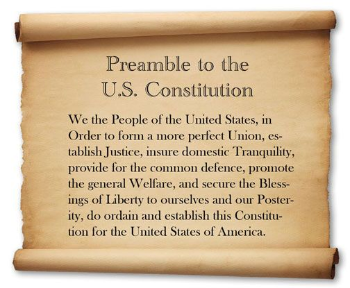 Image result for preamble to the constitution